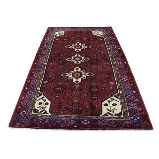 "Shahbanu Rugs New Persian Mosel Pure Wool Hand-Knotted Oriental Rug (4'5"" x 6'9"") - 4'5"" x 6'9"""
