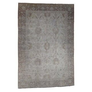 "Shahbanu Rugs Peshawar Silver Wash Oversize Hand-Knotted Oriental Rug (11'10"" x 17'5"") - 11'10"" x 17'5"""