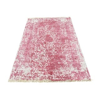 "Shahbanu Rugs Broken Persian Design Wool And Pure Silk Hand-Knotted Oriental Rug (3'0"" x 5'0"") - 3'0"" x 5'0"""