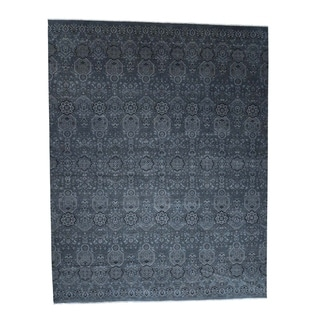 """Shahbanu Rugs Hand-Knotted Agra All Over Design Pure Wool Oversize Oriental Rug (12'0"""" x 15'3"""") - 12'0"""" x 15'3"""""""