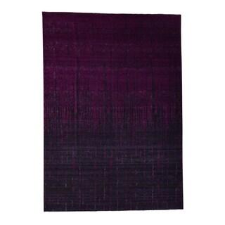 """Shahbanu Rugs Hand Knotted Broken Design Art Silk Modern Oriental Rug (10'1"""" x 14'1"""") - 10'1"""" x 14'1"""""""