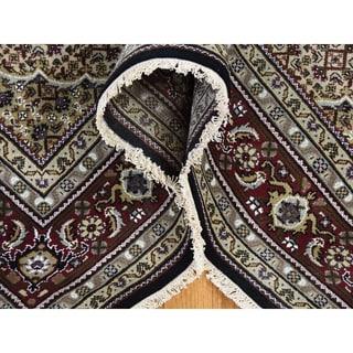 "Shahbanu Rugs Hand-Knotted Wool and Silk Tabriz Mahi 250 Kpsi Oriental Rug (6'0"" x 8'10"") - 6'0"" x 8'10"""