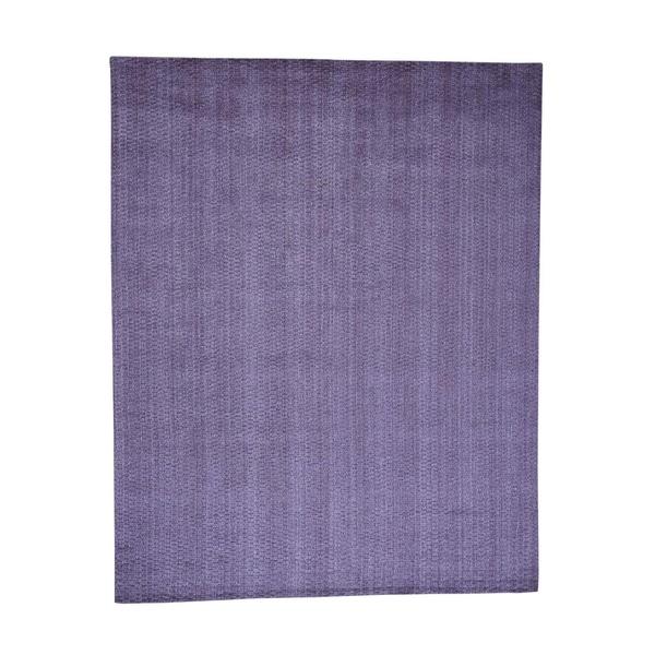 "Shahbanu Rugs Hand-Loomed Pure Wool Tone on Tone Oriental Rug (8'0"" x 10'1"") - 8'0"" x 10'1"""