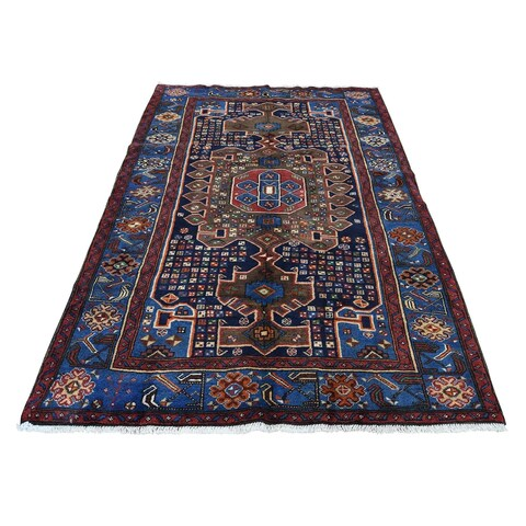 """Shahbanu Rugs New Persian Mosel Pure Wool Hand-Knotted Oriental Rug (4'5"""" x 6'9"""") - 4'5"""" x 6'9"""""""