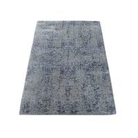 "Shahbanu Rugs Abstract Design Wool and Silk Hand-Loomed Tone on Tone Oriental Rug (2'0"" x 3'0"") - 2'0"" x 3'0"""