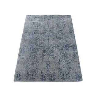 "Shahbanu Rugs Abstract Design Wool and Silk Hand-Loomed Tone on Tone Oriental Rug (2'0"" x 3'0"") - 2'0"" x 3'0"""