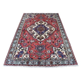 """Shahbanu Rugs Hand-Knotted Pure Wool New Persian Malayer Oriental Rug (4'3"""" x 6'6"""") - 4'3"""" x 6'6"""""""