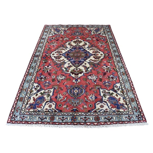 New Persian Hand Tufted Wool Oval Area Rug: Shop Shahbanu Rugs Hand-Knotted Pure Wool New Persian