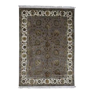 "Shahbanu Rugs Half Wool and Half Silk Rajasthan Hand-Knotted Oriental Rug (5'1"" x 7'1"") - 5'1"" x 7'1"""