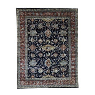 """Shahbanu Rugs All Over Design Hand-Knotted Antiqued Heriz Re-creation Oriental Rug (7'9"""" x 10'0"""") - 7'9"""" x 10'0"""""""