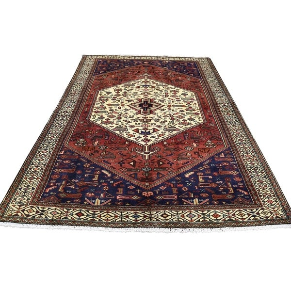 """Shahbanu Rugs Pure Wool Hand-Knotted New Persian Malayer Oriental Rug (4'5"""" x 6'5"""") - 4'5"""" x 6'5"""""""