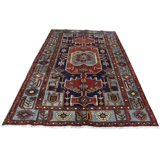 """Shahbanu Rugs Hand-Knotted New Persian Malayer Pure Wool Oriental Rug (4'2"""" x 6'2"""") - 4'2"""" x 6'2"""""""