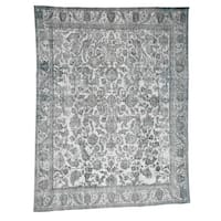 """Shahbanu Rugs Overdyed Persian Tabriz Hand-Knotted Pure Wool Oriental Rug (9'6"""" x 12'5"""") - 9'6"""" x 12'5"""""""
