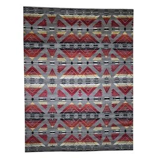 "Shahbanu Rugs Hand-Knotted Southwestern Design Pure Wool Oriental Rug (8'10"" x 12'0"") - 8'10"" x 12'0"""
