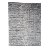 """Shahbanu Rugs THE ERASED MOROCCAN Real Silk Modern Hand-Knotted Oriental Rug (9'1"""" x 12'0"""") - 9'1"""" x 12'0"""""""