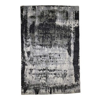 "Shahbanu Rugs Hand-Knotted Abstract Design Wool and Silk Rug (6'1"" x 9'0"") - 6'1"" x 9'0"""