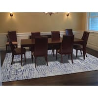 """Shahbanu Rugs THE WALL Sari Silk with Plum Color Hand-Knotted Oriental Rug (9'2"""" x 12'2"""") - 9'2"""" x 12'2"""""""