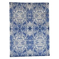 """Shahbanu Rugs Abstract Design Wool and Silk Hand-Knotted Oriental Rug (8'10"""" x 12'0"""") - 8'10"""" x 12'0"""""""