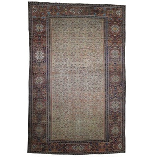 """Shahbanu Rugs Antique Persian Mahal Exc Cond Pure Wool Hand-Knotted Oversized Rug (12'0"""" x 18'3"""") - 12'0"""" x 18'3"""""""