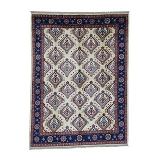 "Shahbanu Rugs Afghan Ersari Pure Wool Hand-Knotted Oriental Rug (6'0"" x 7'10"") - 6'0"" x 7'10"""