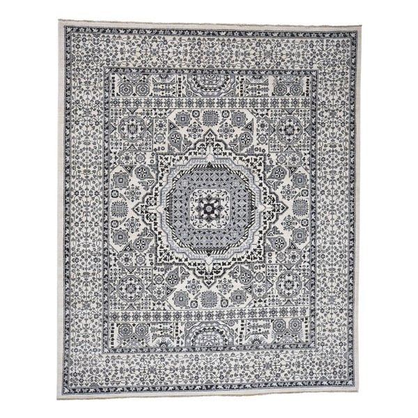 "Shahbanu Rugs Vintage Look Mamluk Pure Wool Natural Colors Hand-Knotted Oriental Rug (8'3"" x 10'0"") - 8'3"" x 10'0"""