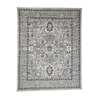 """Shahbanu Rugs Heriz with Natural Colors Hand-Knotted Oriental Rug (8'2"""" x 10'1"""") - 8'2"""" x 10'1"""""""