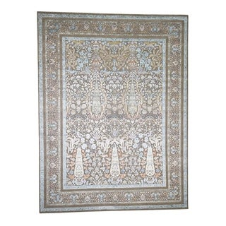"Shahbanu Rugs Cypress Tree Silk With Oxidized Wool Hand-Knotted Oriental Rug (9'1"" x 12'0"") - 9'1"" x 12'0"""
