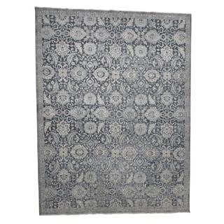 """Shahbanu Rugs Hand-Knotted Oushak Influence Silk with Oxidized Wool Oriental Rug (12'0"""" x 15'10"""") - 12'0"""" x 15'10"""""""