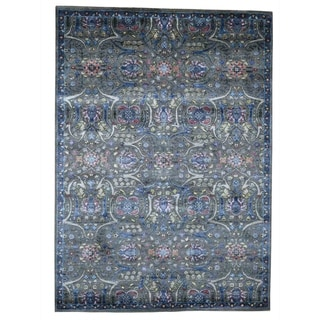 "Shahbanu Rugs Hand-Knotted Wool And Silk Tabriz Design Influence Rug (5'0"" x 7'0"") - 5'0"" x 7'0"""
