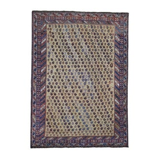 "Shahbanu Rugs Antique Persian Afshar Even Wear Good Condition Hand-Knotted Rug (5'9"" x 7'10"") - 5'9"" x 7'10"""