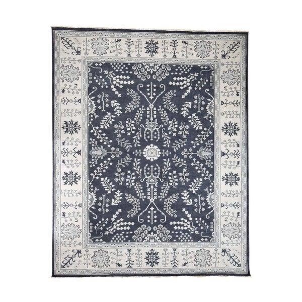 "Shahbanu Rugs Hand-Knotted Turkish Knot Oushak Pure Wool Oriental Rug (8'0"" x 9'10"") - 8'0"" x 9'10"""