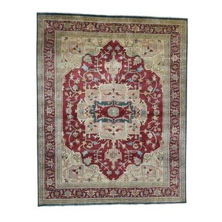 "Shahbanu Rugs Heriz Design Hand-Knotted 100 Percent Wool Oriental Oversize Rug (11'8"" x 14'7"") - 11'8"" x 14'7"""