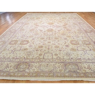 "Shahbanu Rugs Antique Mughal Amritsar Good Condition Even Wear Hand-Knotted Rug (10'7"" x 16'4"") - 10'7"" x 16'4"""