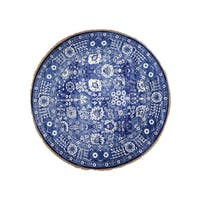 "Shahbanu Rugs Hand-Knotted Wool and Silk Tone on Tone Round Tabriz Oriental Rug (7'1"" x 7'2"") - 7'1"" x 7'2"""