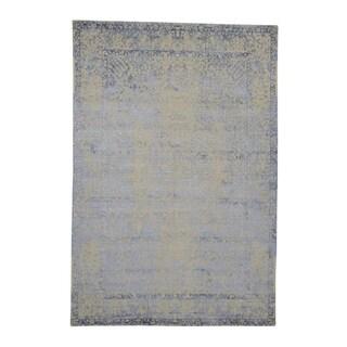 "Shahbanu Rugs Hand Loomed Broken Persian Design Wool and Silk Oriental Rug (6'0"" x 8'10"") - 6'0"" x 8'10"""