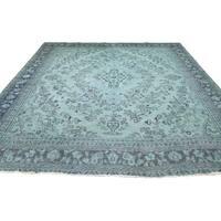 "Shahbanu Rugs Overdyed Persian Hamadan Hand-Knotted Pure Wool Oriental Rug (8'5"" x 10'10"") - 8'5"" x 10'10"""