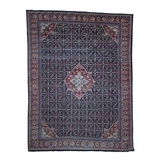 "Shahbanu Rugs Antique Persian Mahal Even Wear Navy Blue Oriental Rug (11'0"" x 14'3"") - 11'0"" x 14'3"""