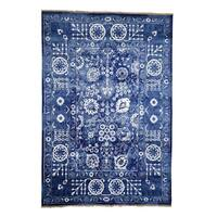 "Shahbanu Rugs Hand-Knotted Wool and Silk Tone on Tone Tabriz Oriental Rug  (6'2"" x 9'0"") - 6'2"" x 9'0"""