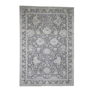 "Shahbanu Rugs Hand-Knotted Oushak Influence Silk Oxidized Wool Oriental Rug  (6'1"" x 8'9"") - 6'1"" x 8'9"""