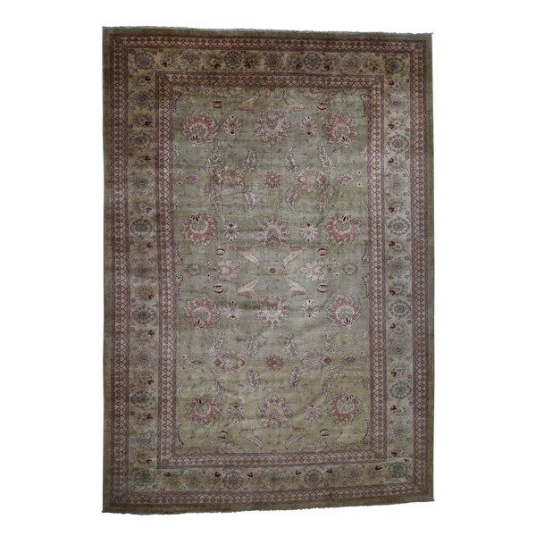 "Shahbanu Rugs Oversize Peshawar 100 Percent Wool Hand Knotted Oriental Rug (12'5"" x 18'0"") - 12'5"" x 18'0"""