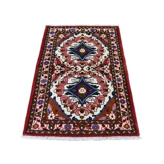 "Shahbanu Rugs New Persian Lilahan Pure Wool Hand-Knotted Oriental Rug (2'9"" x 4'0"") - 2'9"" x 4'0"""