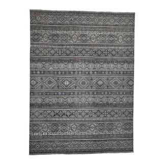 "Shahbanu Rugs Super Kazak Khorjin Design Hand-Knotted Pure Wool Oriental Rug (10'0"" x 13'5"") - 10'0"" x 13'5"""