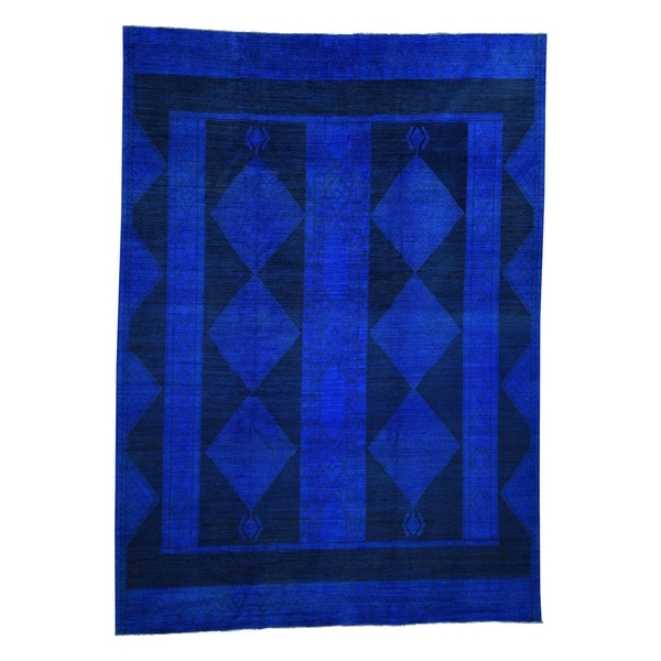 """Shahbanu Rugs South West Design Berber Motifs Pure Wool Hand-Knotted Oriental Rug (10'0"""" x 13'1"""") - 10'0"""" x 13'1"""""""