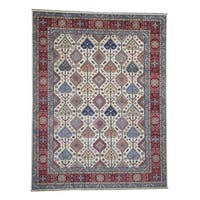 """Shahbanu Rugs Pure Wool Hand-Knotted Special Kazak Oriental Rug (9'3"""" x 12'0"""") - 9'3"""" x 12'0"""""""