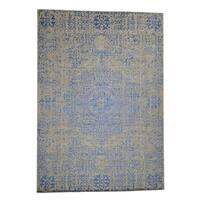 "Shahbanu Rugs Wool And Silk Mamluk Design Hand-Loomed Oriental Rug (10'0"" x 14'0"") - 10'0"" x 14'0"""