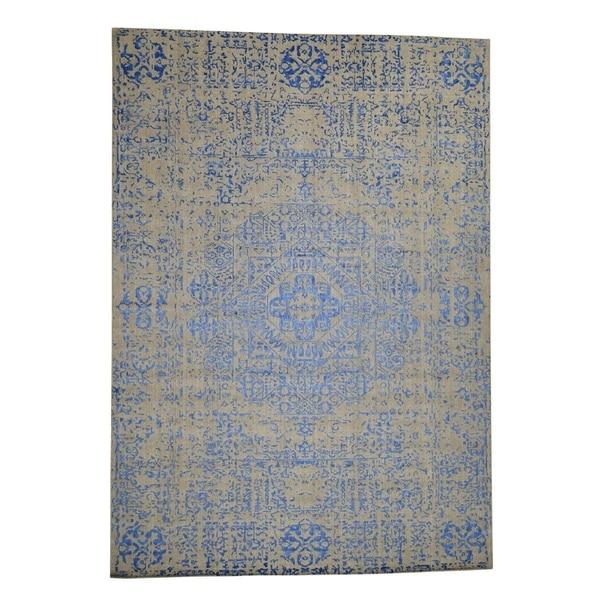 "Shahbanu Rugs Wool And Silk Mamluk Design Hand-Loomed Oriental Rug (8'10"" x 12'0"") - 8'10"" x 12'0"""