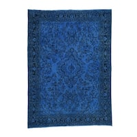 """Shahbanu Rugs Overdyed Persian Bibikabad Pure Wool Hand-Knotted Oriental Rug (8'7"""" x 11'10"""") - 8'7"""" x 11'10"""""""