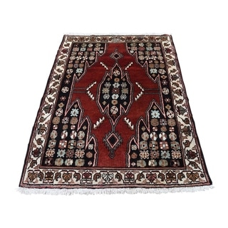 "Shahbanu Rugs New Persian Mazlagan Hand-Knotted Oriental Pure Wool Rug (3'6"" x 4'8"") - 3'6"" x 4'8"""