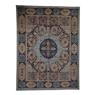 "Shahbanu Rugs Pure Wool Mamluk Design Hand-Knotted Oriental Rug (8'1"" x 10'8"") - 8'1"" x 10'8"""