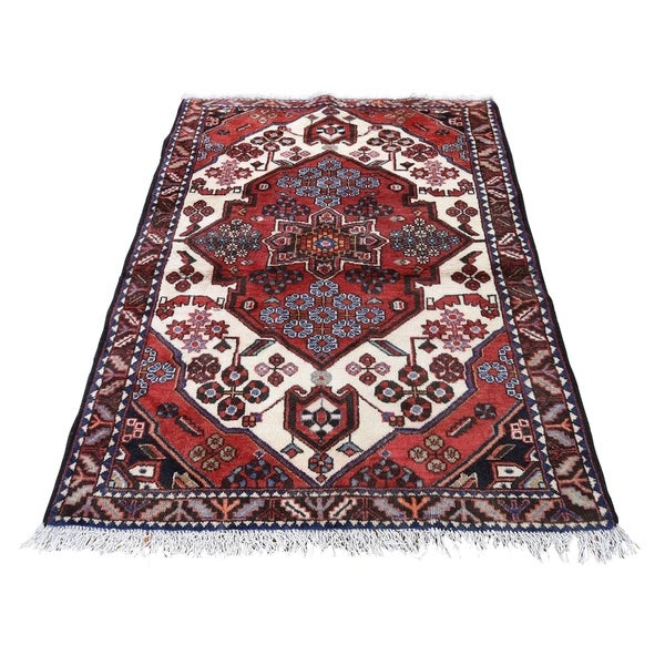 "Shahbanu Rugs New Persian Mazlagan Hand-Knotted Oriental Pure Wool Rug (3'8"" x 5'0"") - 3'8"" x 5'0"""